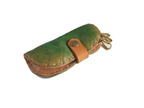 そら豆keycase 手染めグリーン