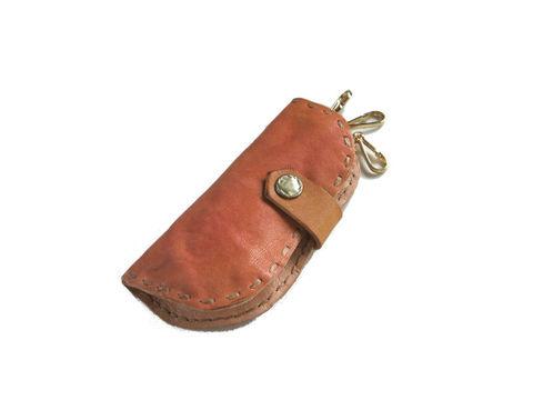そら豆keycase 手染めピンク