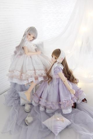 襟付きワンピースドレス