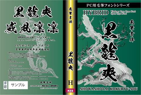 毛筆書体 黒龍爽(パッケージ、CD-ROM版)