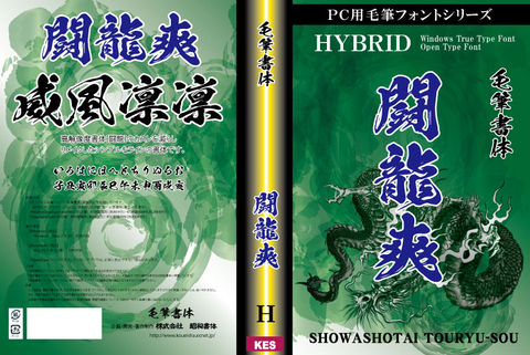 高解像度書体 闘龍爽(パッケージ、CD-ROM版)