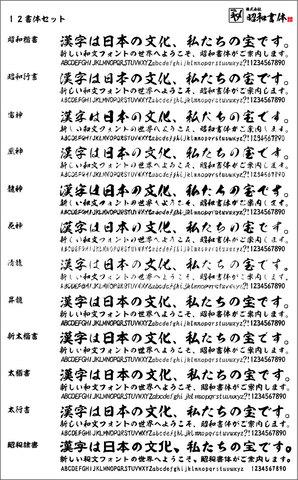昭和12書体+菩薩9書体セット(ダウンロード版)