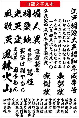高解像度 白龍書体(ダウンロード版)