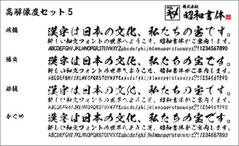 高解像度セット5(ダウンロード版)