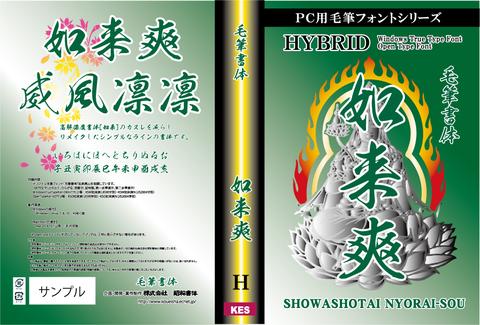 毛筆書体 如来爽(パッケージ、CD-ROM版)