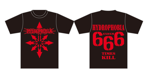 HYDROPHOBIA 4th T-shirt Girls 150cm , 160cm , M , L , XL