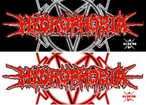 HYDROPHOBIA Sticker Black & White Set