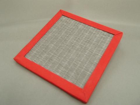 リバーシブル畳コースター  赤色へり・灰桜色