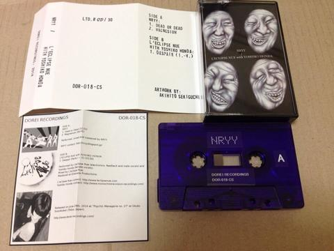 New split cassette, NRYY (Osaka, JPN) /  L'eclipse Nue with Yoshiko Honda (Tokyo, JPN)!