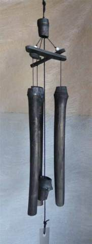 竹炭「銀の風」風鈴(T14)