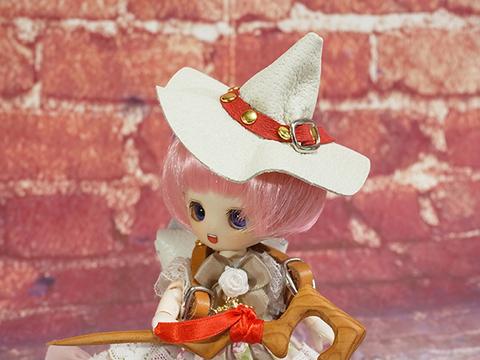 オビツ11用魔女の帽子(ホワイト)
