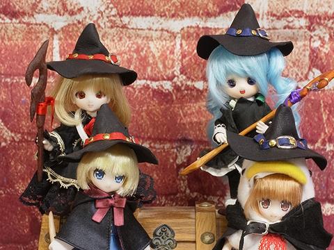 オビツ11用魔女の帽子(ブラック)
