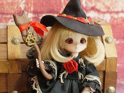 オビツ11用ネコの杖(ブラウン)