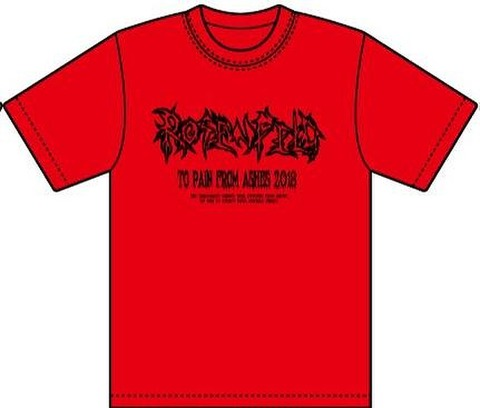 2018・ROSENFELD-TO PAIN FROM ASHES-T-SHIRT (REDBODY・LOGO)