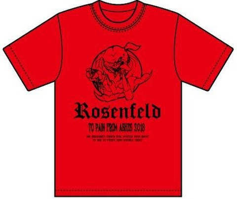 2018・ROSENFELD-TO PAIN FROM ASHES-T-SHIRT (REDBODY・PIGS)