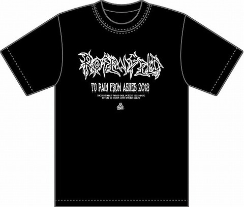 2018・ROSENFELD-TO PAIN FROM ASHES-T-SHIRT (LOGO)