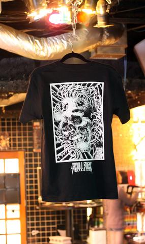 スカルファック第一弾 Tシャツ BLACKxWHITE