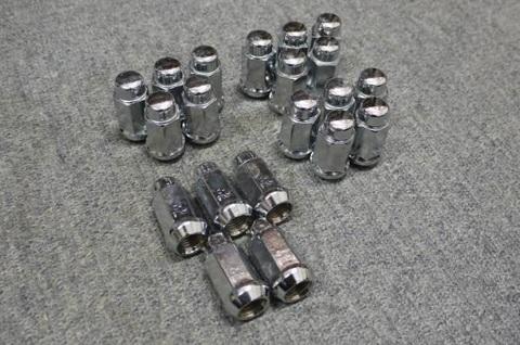 14X1.5 ホイール クローム ナット HEX19㎜ 長さ43.5㎜ 20個set