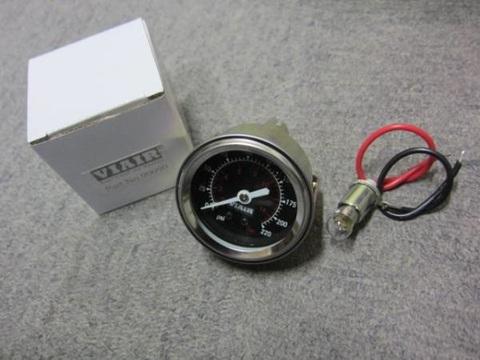 VIAIR エアサス用 エアーゲージ 220PSI シングルタイプ ブラックフェイス
