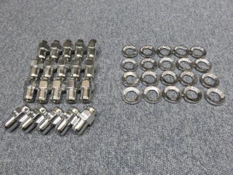 CRAGAR(クレーガー)S/S ホイール用 クロームナット&ワッシャー同型(中芯) 各20個 マルチピッチ用 7/16 アメ車用