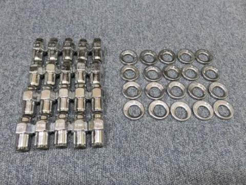 CRAGAR(クレーガー)S/S ホイール用 クロームナット&ワッシャー異型(偏芯) 各20個