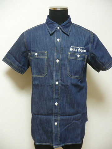 【SLAP SPEED】S/S DENIM GARAGE WORK SHIRT