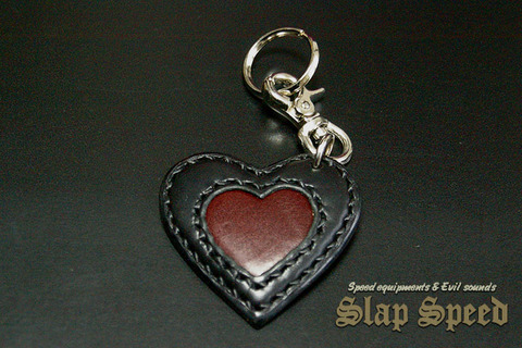 【FLAT FIELD】LEATHER KEY RING / Black×Brown