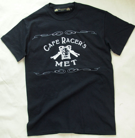 【Cafe Racer's MET】S/S T-SHIRTS (Front Print)Black