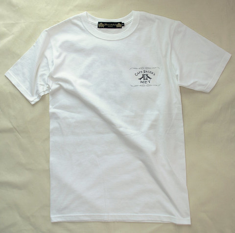 【Cafe Racer's MET】S/S T-SHIRTS (Back Print)White