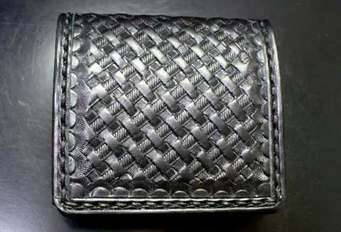 【FLAT FIELD】LEATHER COIN CASE BASKET