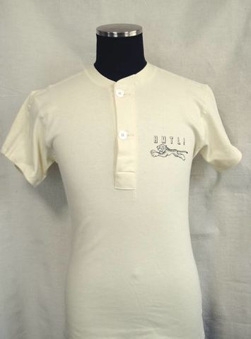 "【HAMATOLA!】Classic Henley Neck T-Shirts""Jumping Tiger""BLACK"