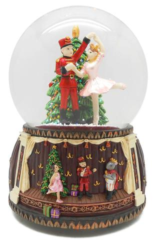 F&Mフォートナム&メイソン くるみ割り人形ミュージカルスノーグローブ バレエスノードーム オルゴール付き