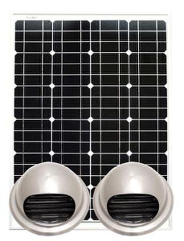 ソーラー小屋裏換気扇ユニット「からっと」