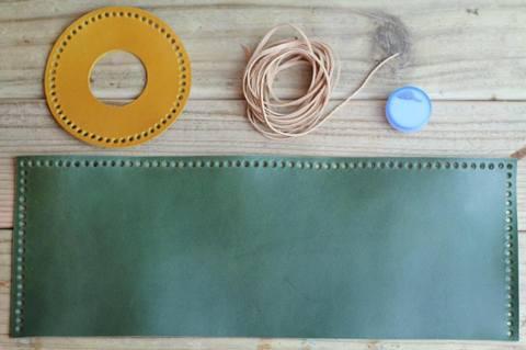 レザーガスカバーDIYキットLサイズ yellow/green