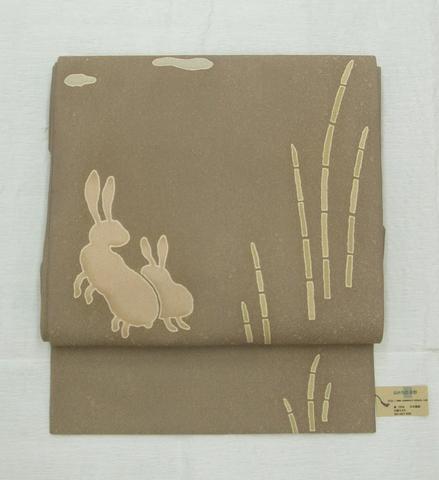 正絹名古屋帯「月ウサギ」