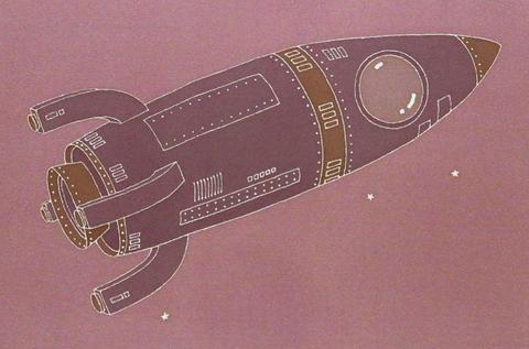 正絹帯揚げ「ロケット・大」