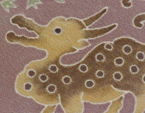 正絹12角額「キリン」