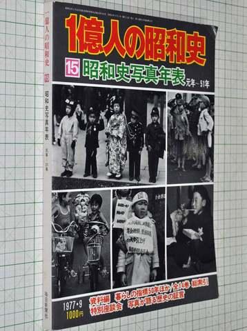 1億人の昭和史15 昭和史写真年表