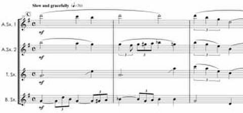 3337 オー・レディ・ビー・グッド サクソフォン四重奏