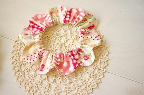 花びら首輪 ピンク