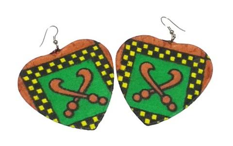 African fabricピアス