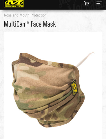 MECHANIX WEAR MULTICAM FACE MASK メカニクスウェア