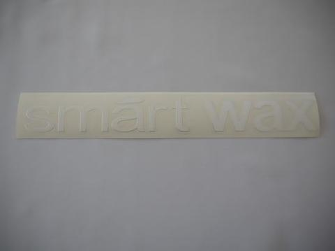 smartWAXステッカー White/chrome