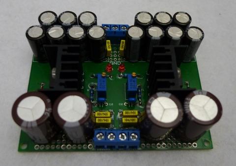 【可変正負電源基板】Power Board【LM317/LM337使用】