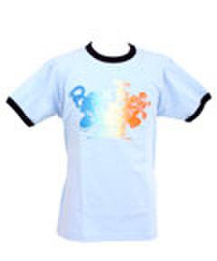 "T-shirt ""ROCK Flyin'"" ブルー"