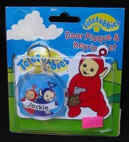 ネーム入りキーチェーン&ドアプレート(Jackie)