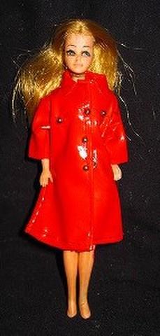 ビンテージ★ドーンのお人形(4)Dawn★レインコート(赤)