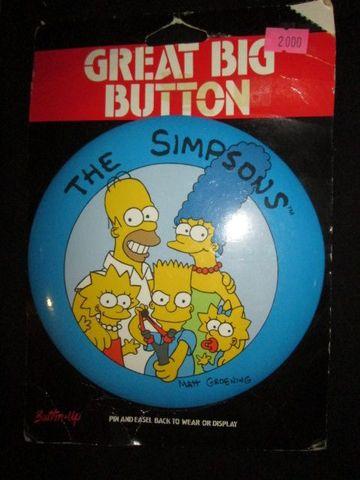 The Simpsons★シンプソンズ★ファミリー★大きい缶バッジ★バッチ