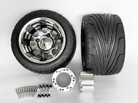ジャイロ用ブラックアルミホイール引っ張りタイヤ&スペーサー70mmセット品番375
