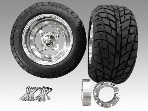ジャイロ用クロスアルミホイール バギータイヤ&スペーサー40mmセット品番129